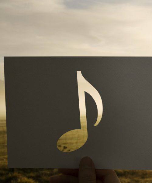 Sound of music perforated paer musical note